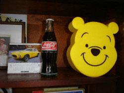 応接間&教材準備室 くまのプーさん  プーさんはNくんからのデズニー土産です
