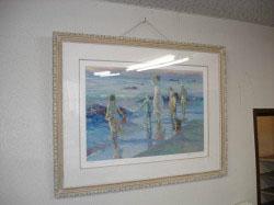 A教室 絵「浜辺の家族」  ロサンゼルスの画廊で見つけました