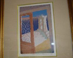 A教室 絵「エーゲ海」  香川県出身の画家の絵です