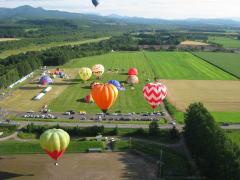 塾卒業生が撮った気球画像 北海道にて